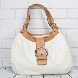Coach Lynn Soho Off White Leather Large Hobo Bag